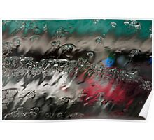 Windshield in the Rain Poster