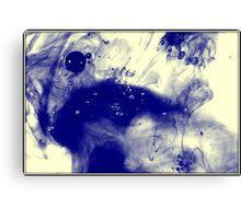 Inverted bubbles of oil Canvas Print