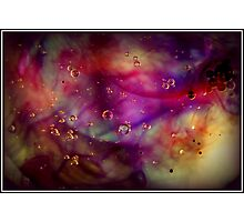 Burst of colour in bubbles Photographic Print