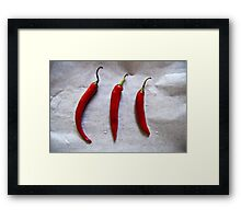 Chillies Framed Print
