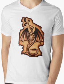 Dragon Flame Mens V-Neck T-Shirt