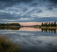 Lake Ginninderra at Sunset by Troy Barrett