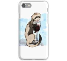Ferret Likes his Wine iPhone Case/Skin