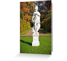 Statue in the park Tsarskoye Selo, Russia  Greeting Card