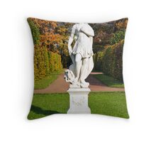 Statue in the park Tsarskoye Selo, Russia  Throw Pillow