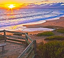Sunset Lookout over Flynn's Beach, Phillip Island Vic Aust by PhotoJoJo