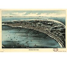 Panoramic Maps Provincetown Mass Photographic Print