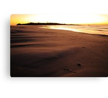 earth sky sea, redbill beach. eastcoast, tasmania Canvas Print