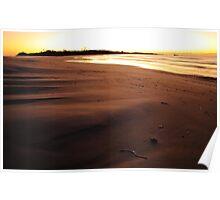 earth sky sea, redbill beach. eastcoast, tasmania Poster