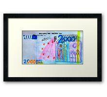 €2000 note  Framed Print