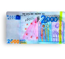 €2000 note  Canvas Print