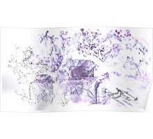 Violet and white landscape Poster