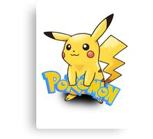 Pikachu Pokemon Canvas Print