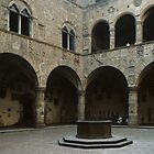 Courtyard Bargello Florence Italy 198407080002  by Fred Mitchell