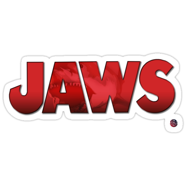 Jaws Logo Tee by Michael Donnellan