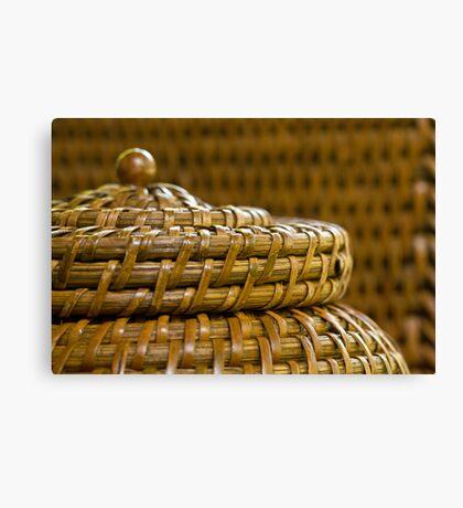Woven Basket Canvas Print