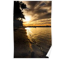 Noosa River Sunset Poster