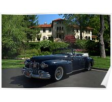 1947 Lincoln Continental Convertible Poster