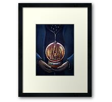 Doctor Who Gallifrey Snow Globe  Framed Print