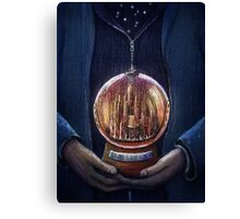 Doctor Who Gallifrey Snow Globe  Canvas Print