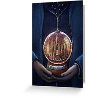 Doctor Who Gallifrey Snow Globe  Greeting Card