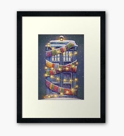 Doctor Who Christmas Tardis  Framed Print