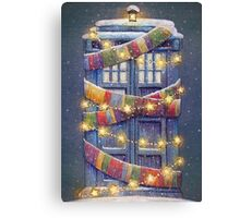 Doctor Who Christmas Tardis  Canvas Print