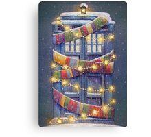Doctor Who Christmas Tardis  Canvas Print