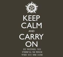 SPN Carry On - White by Steve Stivaktis