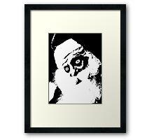 SCARY SANTA Framed Print