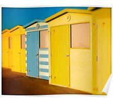 Beach Huts - Seaford UK Poster
