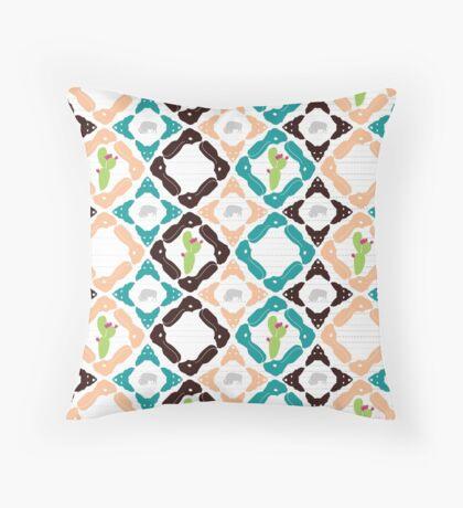 Southwest Animal Print Throw Pillow
