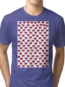 Sketch Emojis - Pink Bows Tri-blend T-Shirt