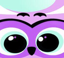 Cartoon lilac owl Sticker