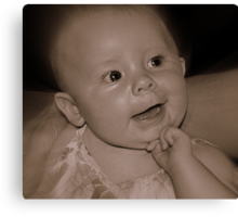 Lydia Posing For Her Granddad Canvas Print