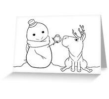 Christmas Chibis Dark Greeting Card