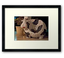 Cow Bench Framed Print