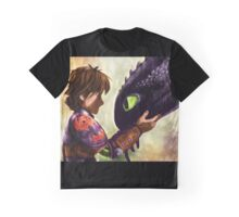 How to Train Your Dragon - Hiccup and Toothless Graphic T-Shirt