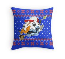 Ugly Snowman Ugly Christmas Sweater Throw Pillow