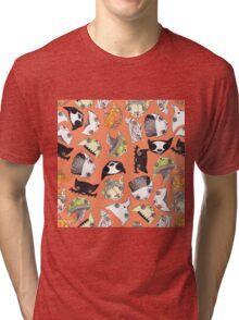 """Oro?"" Halloween Orange Tri-blend T-Shirt"