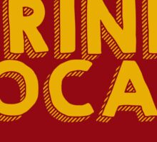 Iowa Drink Local Beer Cyclone Colors Sticker