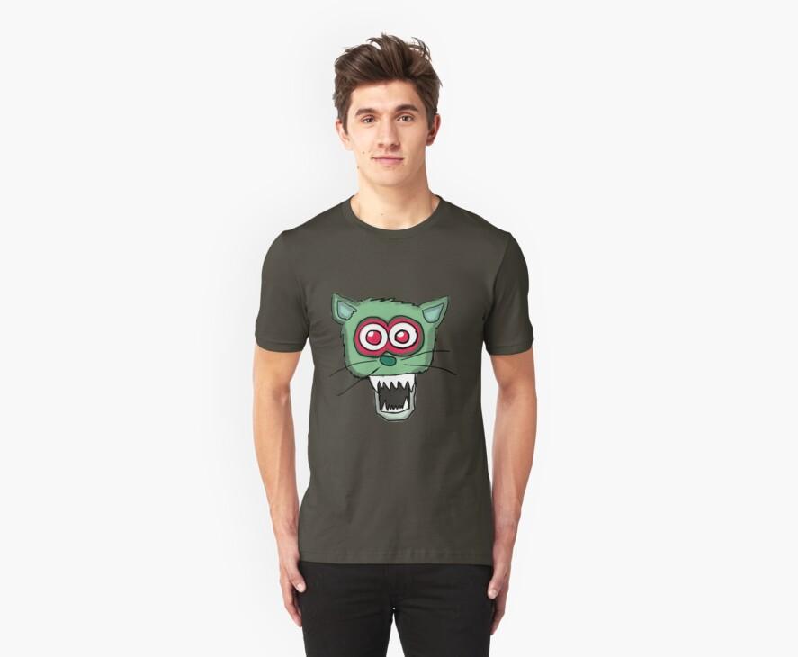 Zombie Cat Head  by Rajee