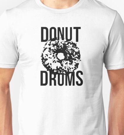 DonutDrums Donut Black Unisex T-Shirt
