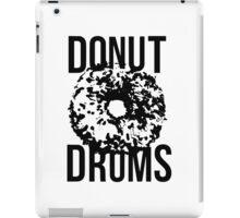 DonutDrums Donut Black iPad Case/Skin