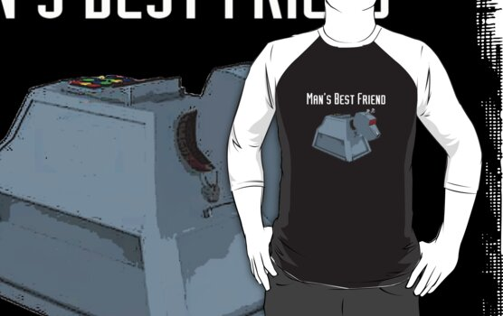 Man's Best Friend (White Text T-Shirt ) by PopCultFanatics