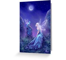 Luminescent Fairy & Dragon Art Greeting Card