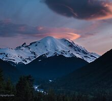 Rainier Sunset by mikereid