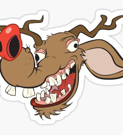 Ugly Reindeer ugly Christmas Sweater Sticker