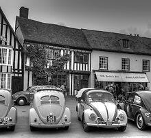 VW Beetles, Lavenham, Suffolk by Teresa Lewis