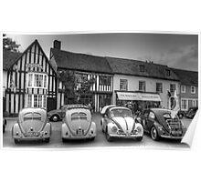 VW Beetles, Lavenham, Suffolk Poster